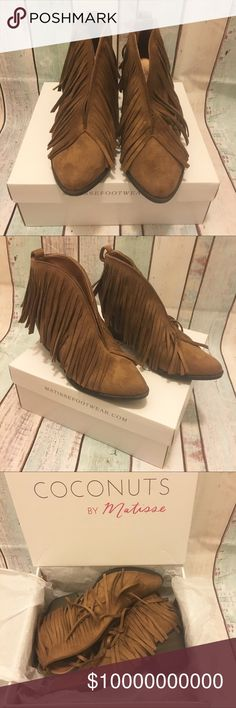 Free People Fringe Ankle Boots Coconuts by Matisse