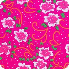 Tissu Petit Pan Fiora rose