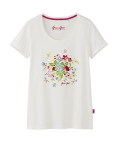 Adorable strawberry t-shirts in a collaboration between Uniqlo and Green Gate