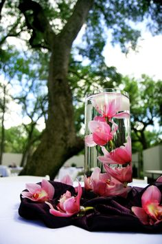 Floating Orchids only in white and purple