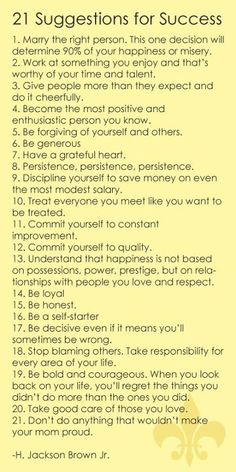Rules to live by :)