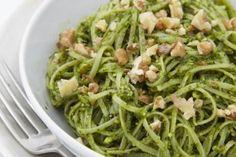 Gluten Free Pasta With Walnut & Spinach Pesto