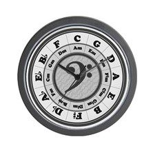CafePress - Circle of Fifths Giant Clock - Large Round Wall Clock, Unique Decorative Clock Circle Of Fifths, Clock Decor, Clock Wall, Kitchen Clocks, Large Clock, Decorating Your Home, Chrome, Mugs, Unique