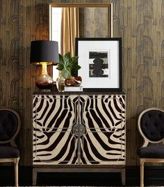 Animal prints taking over the furniture #InteriorInspo