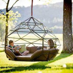 Super Ideas For Backyard Hammock Pergola Garden Swings Backyard Hammock, Hammock Swing Chair, Outdoor Hammock, Patio Swing, Swinging Chair, Hammock Ideas, Hanging Hammock, Diy Hammock, Hanging Beds