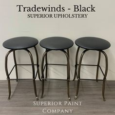 Re-Upholstered barstools using Superior Paint Co. high quality vegan leather upholstery! Paint Companies, Vegan Leather, Bar Stools, Nautical, Upholstery, Painting, Furniture, Collection, Home Decor