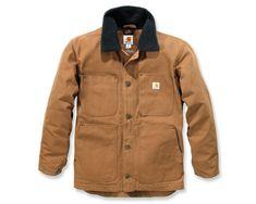 3b82c3a1053b4 Carhartt Mens Full Swing Chore Sherpa Lined Duck Shell Jacket Coat