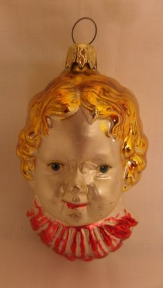 Antique Vintage 1920's Blown Mercury Glass Little Girl Christmas Tree Ornament | eBay
