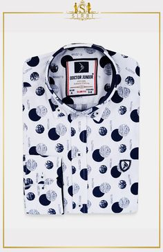 Shop Doctor Junior Boys Slim fit Polka Dots Printed Navy Blue Casual Shirt at SIRRI. Exclusive to Sirri, our dazzling polka dotes print shirt comes with button detail on sleeve so you can roll them up with no fuss Wedding Outfit For Boys, Wedding Outfits, Polka Dot Print, Polka Dots, Suits For Sale, Boys Suits, Kind Mode, Slim Fit, Printed Shirts