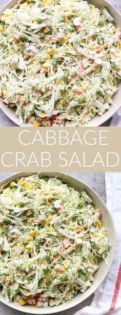 Crab and Cabbage Salad - Valentina's Corner