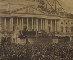 Rare photo of The first inaugural of Abraham Lincoln, March 4, 1861.