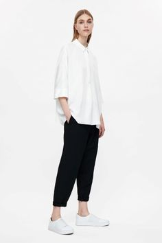 COS image 1 of Oversized shirt in White