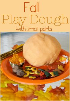 Build fine motor skills with play dough and small parts just perfect for fall! Create all sorts of fun ideas with some unusual combinations!