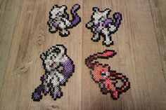 150 Mew 150MX and MY Mega Mewtwo 151 Mew - Perler Beads by Vicsene