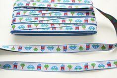 3 meters Childrens motif embroidery fabric ribbon by betweeneedlesandpins, $5.45