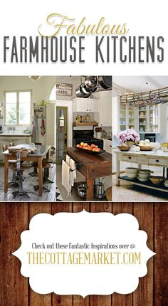 Fabulous Farmhouse Kitchens A trending style in natural elements - The Cottage Market #FarmhouseKitchesn, #FarmhouseKitchenIdeas, #Farmhouse