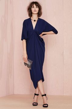 nasty gal. metamorphose dress. navy. #fashion