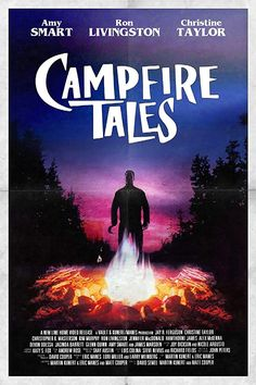 This is the movie poster for Campfire Tales (1997) but it's a bit misleading. Read our review at: cottagemixtape.com Campfire Tales, Campfire Stories, Scary Stories, Horror Stories, Christopher Masterson, Glenn Quinn, Ron Livingston, Horror Tale, Amy Smart
