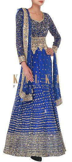 Buy Online from the link below. We ship worldwide (Free Shipping over US$100) http://www.kalkifashion.com/royal-blue-anarkali-embellished-in-sequins-and-thread-embroidery-only-on-kalki.html