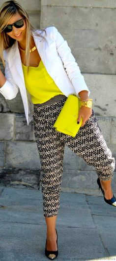 Street style - yellow and white!