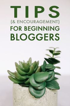 Blogging Tips for Beginners (& reminders for those of us who've been around for awhile).