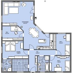 Häuser Layout Top 5 Ways to Choose Your Contemporary Furniture Article Body: New generation home Little House Plans, Dream House Plans, Small House Plans, House Floor Plans, Flat House Design, Casa Patio, Cottage Plan, Unusual Homes, House Layouts