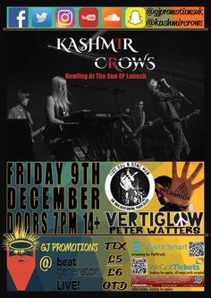 FRI 9th DEC 2016 EVENT - fb.com/events/196713380782781  TICKETS AVAILABLE FROM:  Groucho's - 01382 228 496  Online Tix - www.gjpromotions.co.uk/events