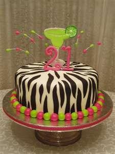 Zebra Print Margarita Birthday on Cake Central 21st Birthday Cake For Girls, 21st Bday Ideas, 21st Birthday Cakes, Birthday Ideas, 21 Birthday, Happy Birthday, Fancy Cakes, Cute Cakes, Margarita Cake