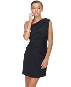 princess valiant one shoulder navy blue dress
