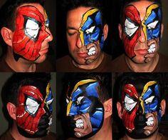 Spiderman Vs Wolverine #comics #geek #facepainting