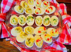 Southern Deviled Eggs With Flair at Miz Helen's Country Cottage