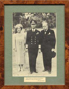 King George VI, Queen Elizabeth and Prime Minister Winston Churchill