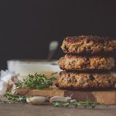 Mushroom & Thyme Quinoa Burgers