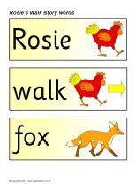 Rosie's Walk story word cards