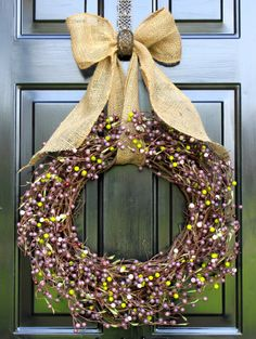 Summer wreath- Wreaths for door - Berry wreath - Door Wreaths for Summer - Wedding Wreath - Housewarming Gift - Wreath for door on Etsy, $67.00