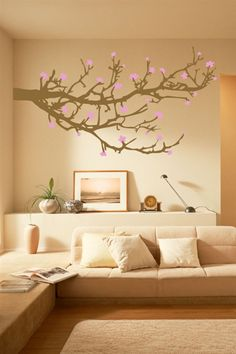 Wall Decals Branches and Blossoms Tree, Flowers-WALLTAT.com Art Without Boundaries