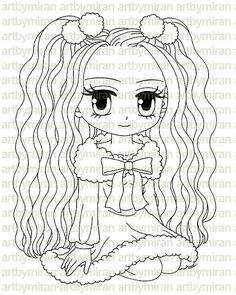 Digital Stamp - Eve, Christmas Digi Stamp, Coloring page, Printable Line art for Card and Craft Supply