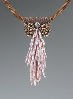One more by Kay Bonitz.  I love stick pearls, so I couldn't resist pinning it.