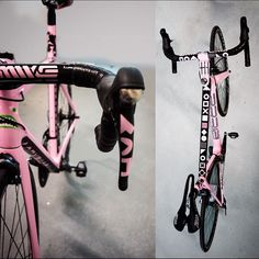 "Poseur Design Studio on Instagram: ""Micheal Britvan's pink and black Neo-Geo #rittecycles Vlaanderen. painting @jamesterrani #styledoping #bikeart #pinkbuttough"""