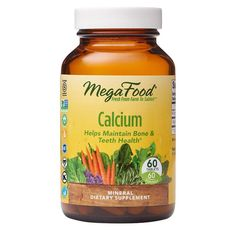 MegaFood Calcium supports healthy bones and teeth.* Calcium, delivered with wholesome nutritional yeast, combines with organic nettle leaf to provide synergistic trace minerals. It can be taken any time of the day, even on an empty stomach. This MegaFood product includes carefully selected herbs and added nutrients. Satisfaction guaranteed or your money back. Age Group: adult. Best Zinc Supplement, L Tyrosine, Calcium Supplements, Calcium Magnesium, Teeth Health, Thyroid Health, Bone Health, Organic Brown Rice, Most Nutritious Foods