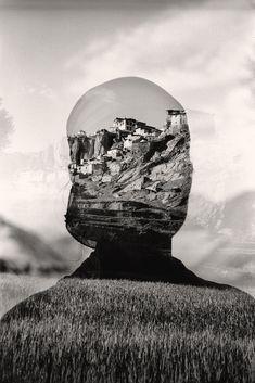 """""""Dans les nuages"""" by Hervé Vallée #double #exposure #art"""