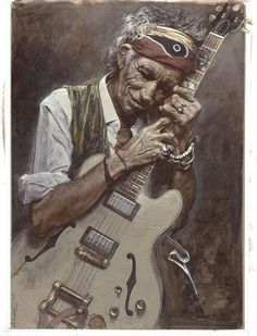 Sebastian Krüger is a well-known German artist, who receives international recognition for his incredible caricatures of celebrities. The artist is considered to be the promoter of the New Pop Realism genre and over the span of 25 years has painted the portraits of hundreds of famous people. He also happens to be a good friend of the Rolling Stones, particularly Keith Richards.