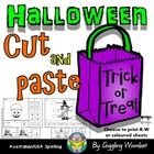 Halloween Cut and Paste by Giggling Wombat | Teachers Pay Teachers