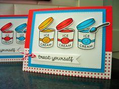 Treat Yo Self Birthday Card Ice Cream Birthday by apaperaffaire