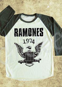 Ramones tshirt rock tshirt women tshirt unisex tshirt baseball shirt 3/4 long sleeve tshirt S,M,L on Etsy, $18.00