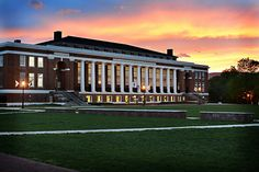 Sunset over Doremus Gymnasium at Washington and Lee by wlunews, via Flickr