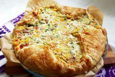 Retete Culinare - Placinta cu legume mexicane si ton
