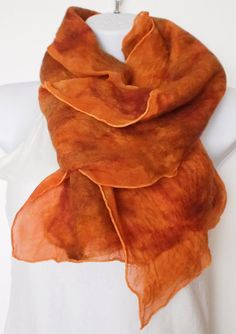 Nuno Felted Merino Wool and Silk Wrap/Scarf Free US by whimsywool, $60.00