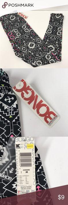 BONGO knit leggings. Black/White Neon Aztec BONGO knit leggings. Black/White Neon Aztec BONGO Pants Leggings