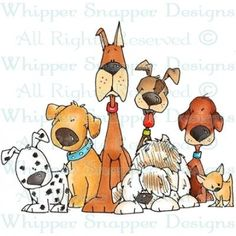 Puppy Chow - f - Animals - Rubber Stamps - Shop Dog Illustration, Illustrations, Cute Drawings, Animal Drawings, Collage Poster, Puppy Chow, Cartoon Dog, Digi Stamps, Whimsical Art